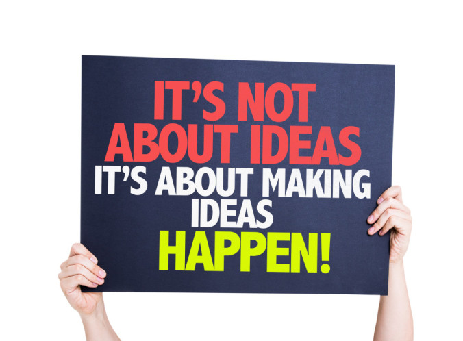 It's Not About Ideas Its About Making Ideas Happen card